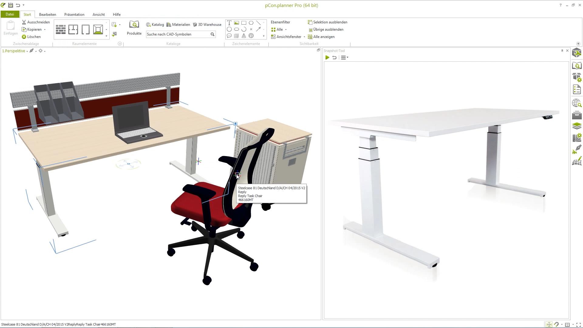 Einfügen eigener Produktbilder mit dem Snapshot-Tool im pCon.planner 7.1