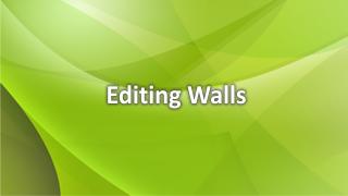 Wände bearbeiten
