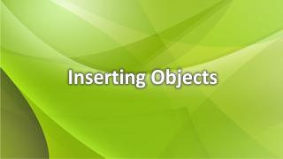 Objekte einfügen